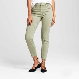 NWT Mossimo green high waist crop jegging